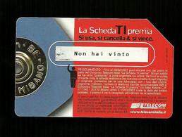 1258 Golden - La Scheda Ti Premia - Rossa Da Euro 2.58 Telecom - Öff. Werbe-TK