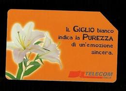 935 Golden - Messaggi Floreali - Il Giglio Da Lire 5.000 Telecom - Öff. Werbe-TK
