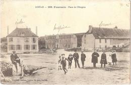 Dépt 48 - FOURNELS - Place De L'Hospice - (Éditeur : Germain Malroux, Civette, Lib.-édit.) - Altri Comuni