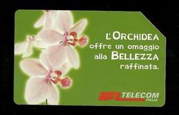 1085 Golden - Messaggi Floreali - L'orchidea Da Lire 5.000 Telecom - Öff. Werbe-TK