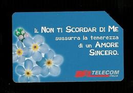 1005 Golden - Messaggi Floreali - Il Non Ti Scordar Di Me Lire 10.000 Telecom - Öff. Werbe-TK