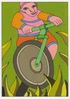 Cpm 1741/645 ERGON - Homme à Bicyclette - Vélo - Cyclisme - Bicycle -Illustrateurs - Illustrateur - Ergon