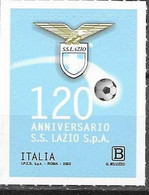 ITALY, 2020, MNH,FOOTBALL, SOCCER, FAMOUS CLUBS, LAZIO, 1v - Clubs Mythiques