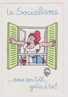 CPM  Illustrateur EFFEL Socialisme  Verso 23eme Congres Du PCF - Effel