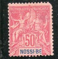 NOSSI-BE Année 1894 N°37* - Neufs