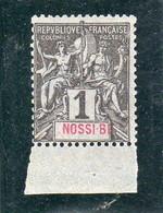 NOSSI-BE Année 1894 N°1** - Neufs