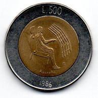 San Marin -  500 Lires 1986 R - SUP - San Marino