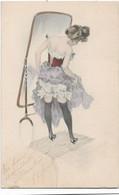 Jeune Femme Devant Un Miroir - 1900-1949