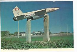 57448) Canada R.C.A.F. North Bay Military Bomarc Missile - North Bay