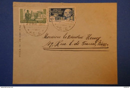 """188 AFRIQUE EQUATORIALE FRANCAISE BELLE LETTRE 1940 TRES RARE PAR LE PAQUEBOT """"ASIE """" POUR NICE - Covers & Documents"""
