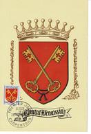 CM FRANCE  1955  BLASONS  ARMS  WAPPEN - 1950-59