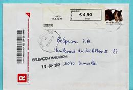 BLASTER,  4830 LIMBOURG 17/08/2012 Op Aangetekende Zending - Postage Labels