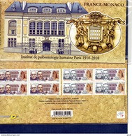 BLOC Emisions Communes N°P4456 France-Monaco - Souvenir Blocks & Sheetlets