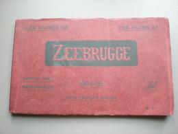 ZEEBRUGGE - LES RUINES DE ZEEBRUGGE - GUERRE 1914 - 18 - 10 CARTES PHOB N° 4 - Zeebrugge