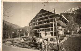 Foto Cartolina COURMAYEUR - Casa In Costruzione - FORMATO PICCOLO - (rif. G88) - Other Cities