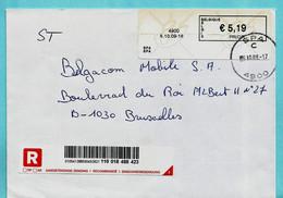BLASTER, 4900 SPA 06/10/2009 Op Aangetekende Zending - Postage Labels