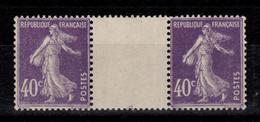Semeuse YV 236 N** En Paire Interpanneaux - Unused Stamps