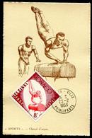 MONACO - CARTE MAXIMUM 1953 - SPORT - CHEVAL D'arçon - Timbre Jeux Olympiques D'été D'HELSINKI De 1952 - Cartoline Maximum