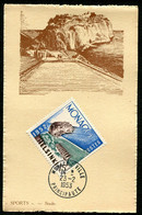 MONACO - CARTE MAXIMUM 1953 - SPORT - STADE - Timbre Jeux Olympiques D'été D'HELSINKI De 1952 - Maximum Cards