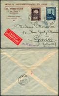 DEL001 - Lettre Par Exprès De Bruxelles à Genève ( Suisse Switzerland ) 1936 - Storia Postale