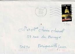 TP N° 3946 Seul Sur Enveloppe De Avord - 1961-....