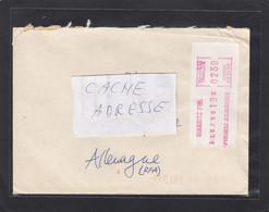 LETTRE DE BIARRITZ AVEC VIGNETTE D'AFFRANCHISSEMENT. - 1985 Papier «Carrier»