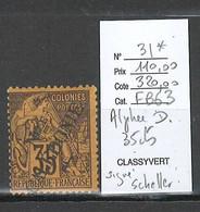 Nouvelle Calédonie - Yvert 31* - 35 Cts Alphée Dubois - SIGNE SCHELLER - Nuevos