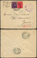 DEL003 - Lettre Censurée En Franchise Militaire à Genève ( Suisse Switzerland ) 1916 - 1915-1920 Alberto I