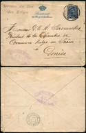 DEL004 - Lettre Censurée En Franchise Militaire à Genève Suisse Switzerland ) 1917 Service Du Roi Des Belges Secrétariat - 1915-1920 Alberto I