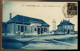 CPA AISNE FARGNIERS N° 55 FOYER CARNEGIE ET LA POSTE 1931 PHOT EDIT BLAINCOURT LES PRECY - Otros Municipios