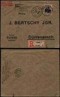 DEL008 - Lettre Recommandée Occupation De Liège à Durrenasch ( Suisse Switzerland ) 1916 - Altre Lettere