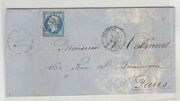 LAC DE TROYES DU 2/MAI/66 LOZANGE GROS CHIFFRE 4034 INDICE (1)  POUR PARIS   Nr 22 COTE  € - 1701-1800: Vorläufer XVIII