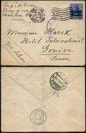 DEL014 - Lettre Occupation De Bruxelles à Genève ( Suisse Switzerland ) 1916 - Other Covers