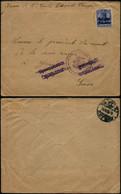 DEL015 - Lettre Occupation De Elouges à Genève ( Suisse Switzerland ) 1915 - Altre Lettere