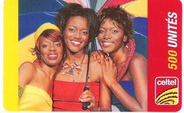 ZAIRE : CEL011 500u CELTEL 3 Women (verso 2) USED Exp: 31/12/2004 - Congo