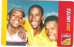 ZAIRE : CEL010 300u CELTEL 3 Men  (verso 2) USED Exp: 31/12/2004 - Congo