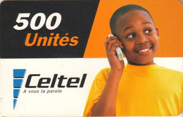 ZAIRE : CEL005 500u CELTEL Little Boy On The Phone (verso 1) USED Exp: 31/12/2004 - Congo