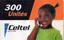ZAIRE : CEL003 300u CELTEL Little Girl On The Phone USED Exp: 31/12/2004 - Congo