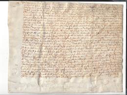 Parchemin 1497 ( 1597 ? )  ( Noms De Lieux Et De Personnes à Lire ) - Historical Documents
