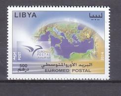 Stamps LIBYA 2014 SC 1792 EUROMED POSTAL MNH #173 - Libië