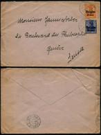 DEL019 - Lettre Occupation De Uccle à Genève ( Suisse Switzerland ) 1917 - Altre Lettere