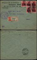 DEL021 - Lettre Occupation Recommandée De Bruxelles à Genève ( Suisse Switzerland ) 1916 - Altre Lettere