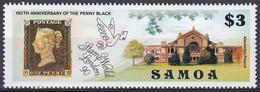 Samoa 1990 Philatelie Philately Stamp Exhibition STAMP WORLD LONDON Bauwerke Buildings Black Penny, Mi. 700 ** - Samoa (Staat)