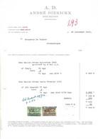 Erembodegem ; Factuur 1961 - André Dierickx - Houblons - Unclassified
