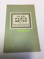 PLAN PARIS METRO ANNEES 1940's - Other