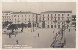 SASSARI-PIAZZA ITALIA-TERRAZZA PALAZZO PROVINCIALE- CARTOLINA VERA FOTOGRAFIA-VIAGGIATA IL 6-7-1931 - Sassari