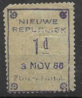 New Republic Mh * 18 Euros (old Catalogue) Faulty Corner - Nieuwe Republiek (1886-1887)