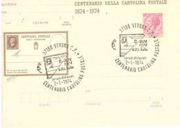 CENTENARIO CARTOLINA POSTALE - FDC