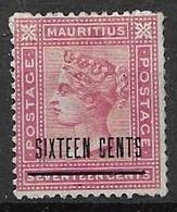 Mauritius Mh* 1883 70 Euros In Old Catalogue - Mauritius (...-1967)