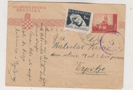 CROATIA WW II 1944 BOSANSKA DUBICA  Censored Postal Stationery - Kroatië